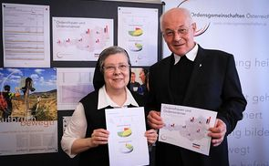 Sr. Beatrix Mayrhofer und Abt em. Christian Haidinger