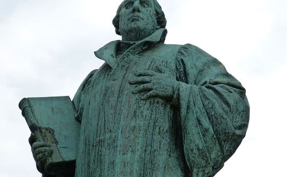 Luther-Statue in Magedburg