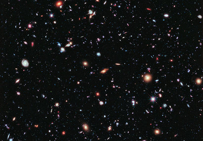 This image, called the Hubble eXtreme Deep Field (XDF), combines Hubble observations taken over the past decade of a small patch of sky in the constellation of Fornax. With a total of over two million seconds of exposure time, it is the deepest image