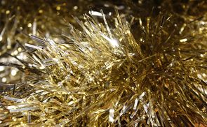 Lamettagirlande in Gold