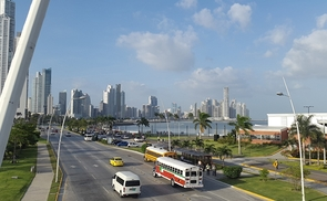 Cinta Costera in Panama-Stadt