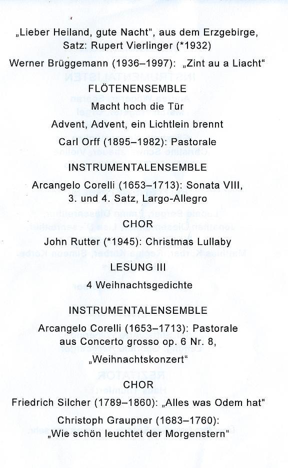 Spirituelle Weihnachtsgedichte.Diözese Linz