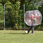 P. Sigi am Ball bei Bubble-Soccer