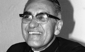 Archbishop Oscar Romero at home, 20 November 1979. Known locally as Monseñor Romero, Archbishop Romero was assassination by a gunman inside El Salvador's cathedral shortly after his homily on 24 March 1980. His death provoked international outcry for